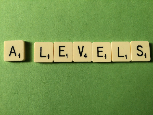A levels in scrabble letters