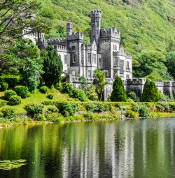Kylemore Abbey in Connemara, Study in Ireland