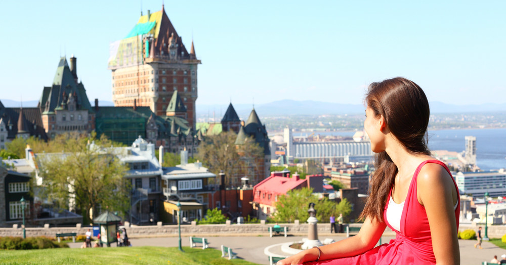 female-international-student-looking-towards-quebec-city