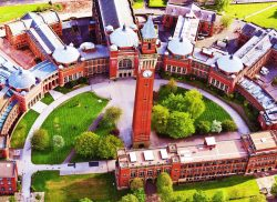 University of Birmingham campus from above