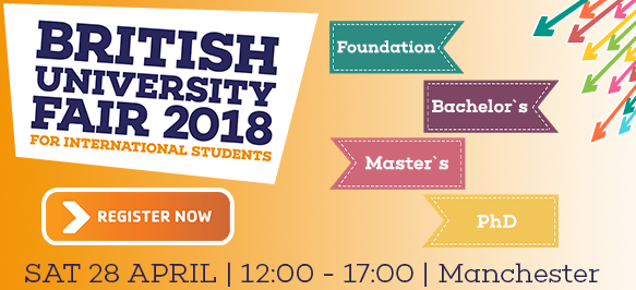 British University Fair Banner for registration