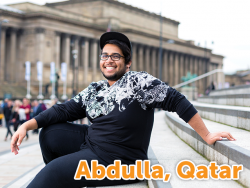 Student from Qatar studying abroad